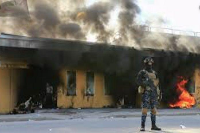 Американское посольство в Багдаде попало под ракетный обстрел