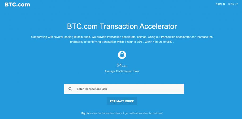 btc.com transaction accelerator
