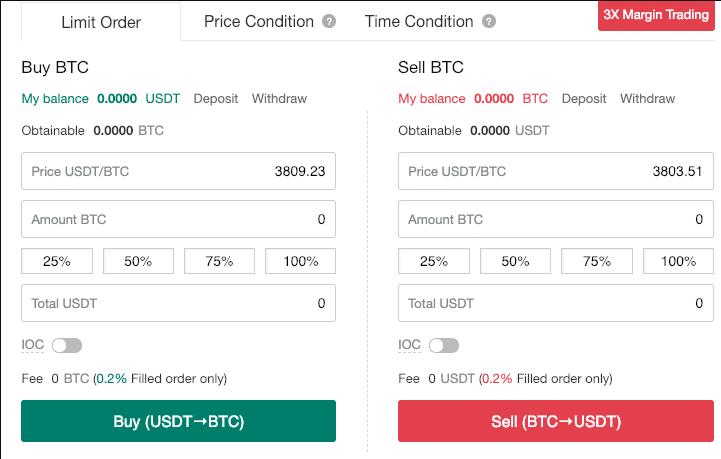 limit order биржи gate.io